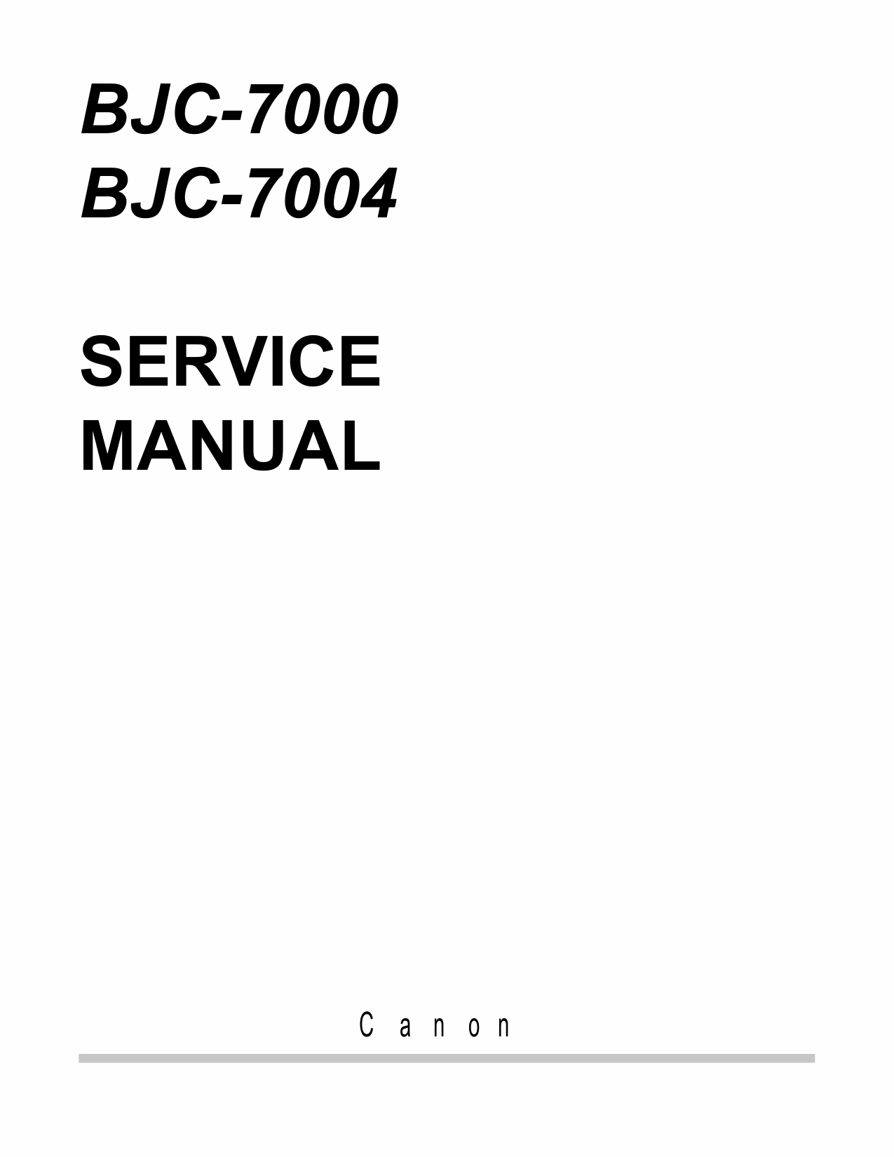 Canon BubbleJet BJC-7000 7004 Service Manual-1